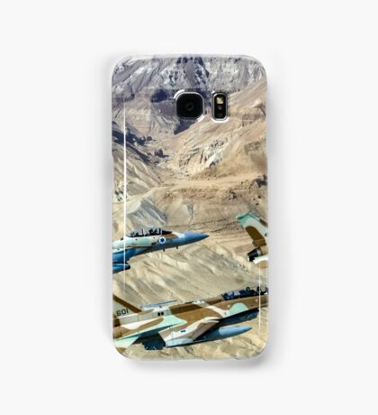 Israeli Air Force fighter jets flying over the Judea mountains Dead sea area Samsung Galaxy Case/Skin