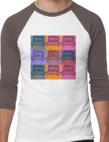 Music Tape Cassette Pirate Pop Art Men's Baseball ¾ T-Shirt