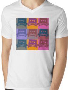 Music Tape Cassette Pirate Pop Art Mens V-Neck T-Shirt