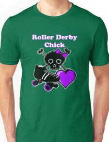 Roller Derby Chick (Purple) Unisex T-Shirt