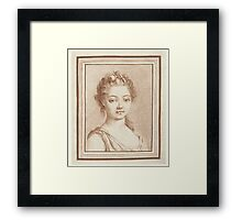Bust of a young girl, Louis Marin Bonnet Framed Print