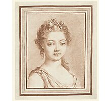 Bust of a young girl, Louis Marin Bonnet Photographic Print