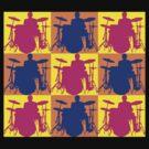 Pop Art Drummer by retrorebirth