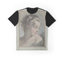 Bust of a young woman, Louis Marin Bonnet, after François Boucher Graphic T-Shirt