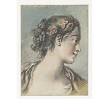 Bust of a young woman, Louis Marin Bonnet, after François Boucher Photographic Print