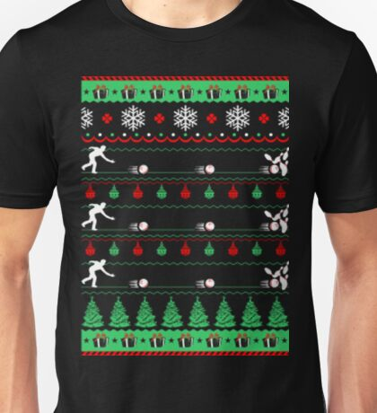 Bowlers bowling christmas ugly sweater Unisex T-Shirt