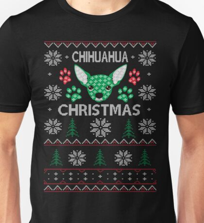 Chihuahua ugly christmas sweater xmas Unisex T-Shirt
