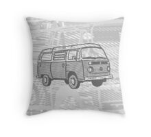 Grey Bay Campervan Dub-U (please see description) Throw Pillow