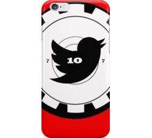 Shoot Twitter Black and White iPhone Case/Skin