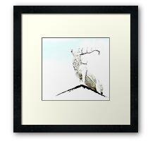 Alebaster Antlers Framed Print
