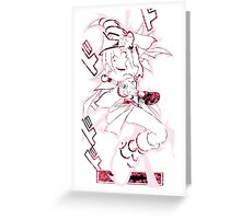Dark Magician Girl (Dark Flower Attack) Greeting Card