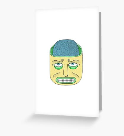 Brain in the head Greeting Card