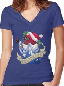 Stocking Stuffers: Celebrate! Women's Fitted V-Neck T-Shirt