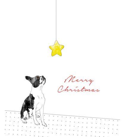 A Boston Terrier Christmas Sticker