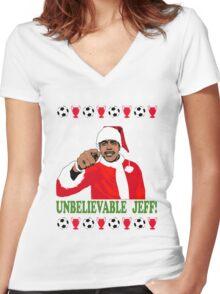 Unbelievable Jeff! Chris Kamara Women's Fitted V-Neck T-Shirt