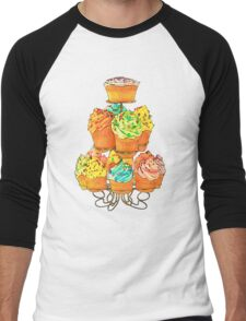 Cupcakes Men's Baseball ¾ T-Shirt