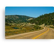 Montana Highway 1--The Pintlar Scenic Byway Canvas Print