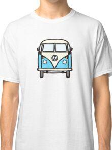 Blue White Campervan (slightly cubist) Classic T-Shirt