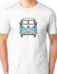Blue White Campervan (slightly cubist) Unisex T-Shirt