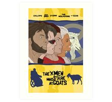 The 'X-Men' Who Stare at Goats Art Print