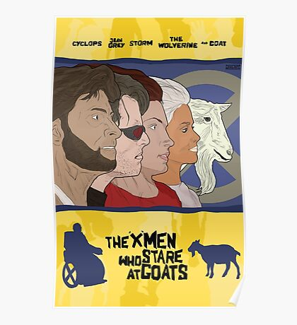 The 'X-Men' Who Stare at Goats Poster