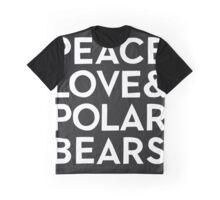 PEACE, LOVE & POLARBEARS Graphic T-Shirt