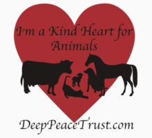 I'm A Kind Heart For Animals Kids Clothes