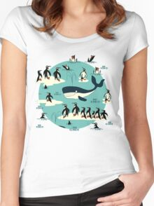 Whales, Penguins and other friends Women's Fitted Scoop T-Shirt