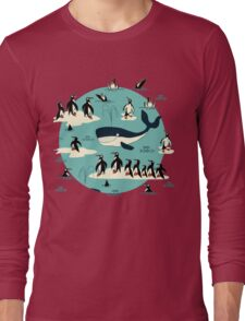 Whales, Penguins and other friends Long Sleeve T-Shirt