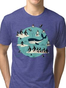 Whales, Penguins and other friends Tri-blend T-Shirt