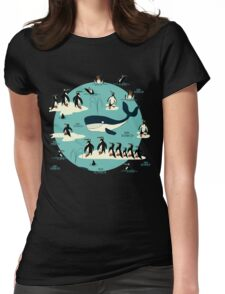 Whales, Penguins and other friends Womens Fitted T-Shirt