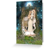Princess and Unicorns Greeting Card