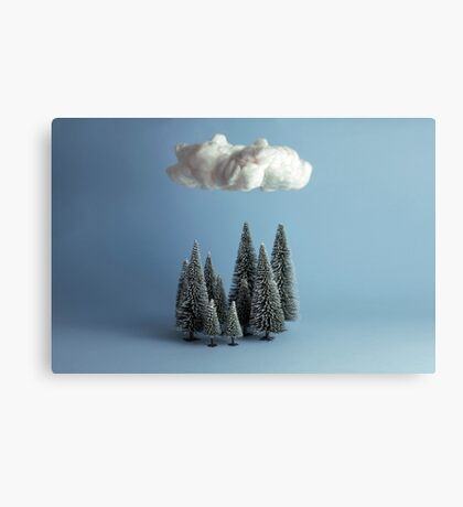 A cloud over the forest Canvas Print