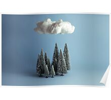 A cloud over the forest Poster