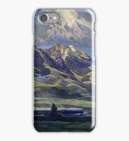 Vintage Montana Landscape Travel by Train iPhone Case/Skin