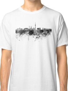 Stuttgart skyline in black watercolor Classic T-Shirt