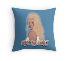 Ain't my fault - Color Blue Throw Pillow