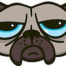 Unhappy Pug by DetourShirts