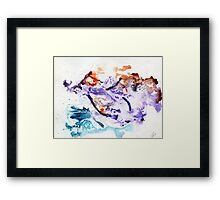 Red and blue abstract Framed Print
