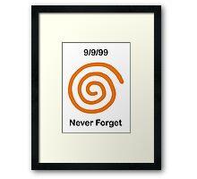 Dreamcast Never Forget (NTSC) Framed Print