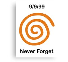 Dreamcast Never Forget (NTSC) Canvas Print