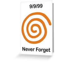 Dreamcast Never Forget (NTSC) Greeting Card