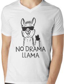No Drama Llama funny shirt Mens V-Neck T-Shirt