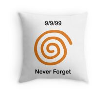 Dreamcast Never Forget (NTSC) Throw Pillow