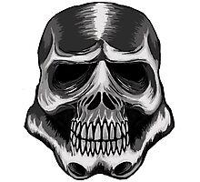Trooper Skull Photographic Print