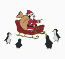 Santa Pengy Kids Tee