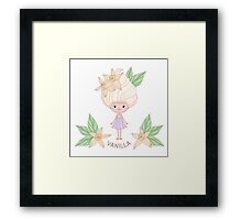 Vanilla ice cream girl Framed Print