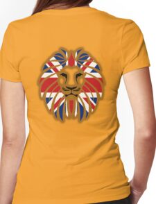 BRITISH LION, Union Jack, Blighty, Sport, Big Cat, Cat, Roar, Snarl, King of the Jungle Womens Fitted T-Shirt