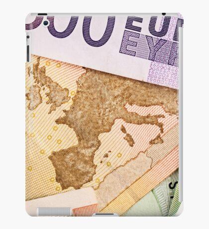 Map of Europe on 50 Euro banknote  iPad Case/Skin