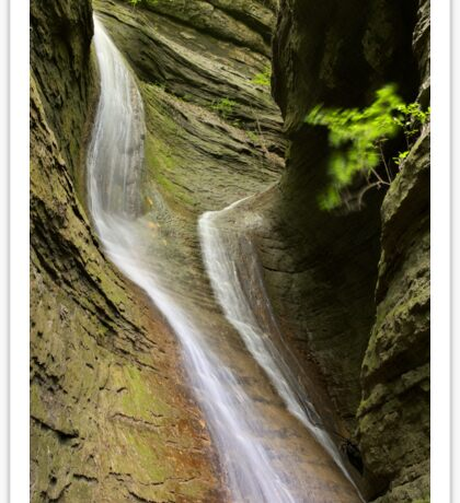 Double waterfall in Castran canyon Sticker